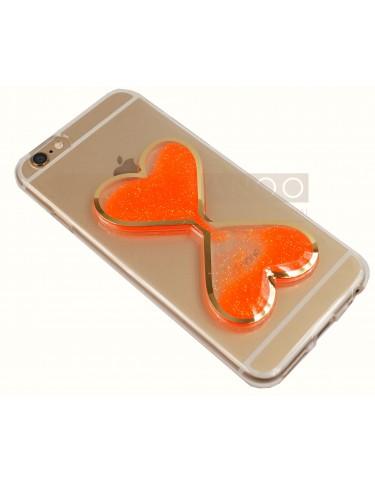 iPhone 6 s LIQUID HEART ORANGE