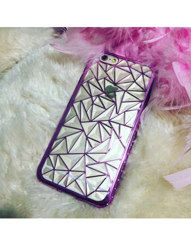 TRANSPARENT TRIANGLES PINK