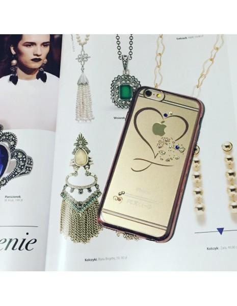 Luxury Heart Swarovski Cristals Rose Gold