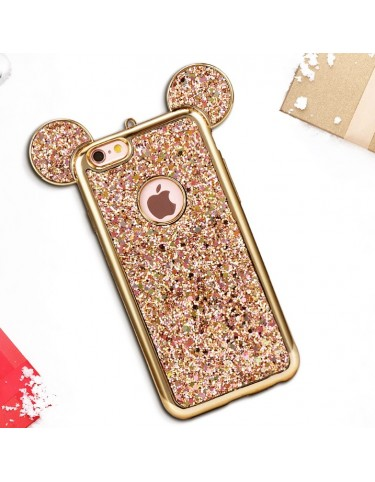 iPhone 6 s Mouse Glitter Gold