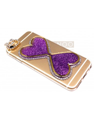 LUXURY LIQUID HEART SWAROVSKI CRISTALS PURPLE