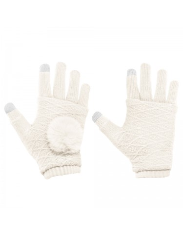 TOUCH SCREEN GLOVES WHITE
