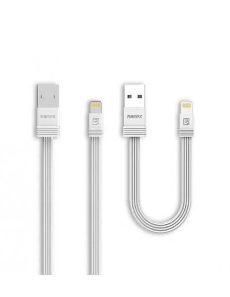 Remax Tengy pakiet zestaw 2x kabel USB Lightning 1M/16CM biały