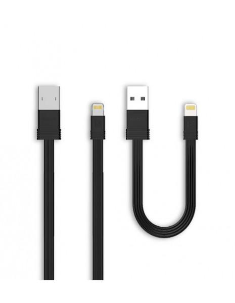 Remax Tengy pakiet zestaw 2x kabel USB Lightning 1M/16CM czarny