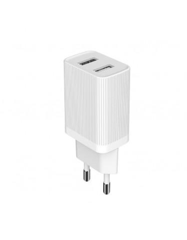 Kingkong ładowarka sieciowa adapter EU 2x USB 2.1A biały