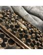 RING SWAROVSKI FLOWER BLACK&GOLD